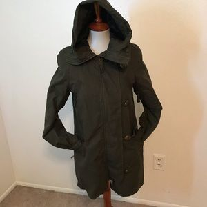 Juicy Coture Army Green Twill Cotton Coat